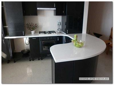 Заказ столешницы из искусственного камня для кухни в Москве